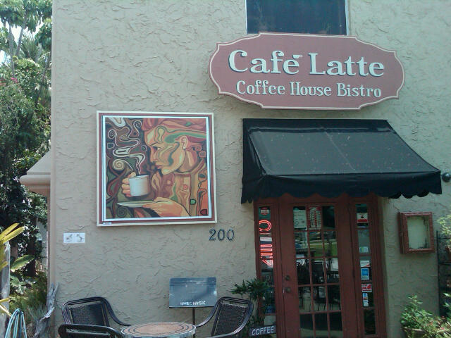 Cafe latte front door