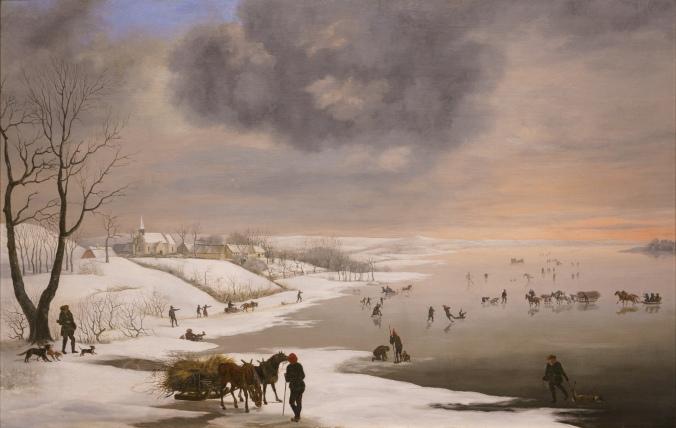 """""""Vinterlandskab med Brabrand Kirke"""" by Christian David Gebauer"""